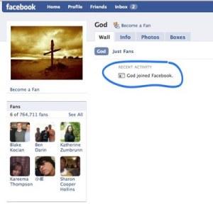 God has Facebook