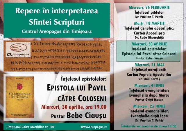 Conferinta repere in interpretarea Scripturii - Bebe Ciausu