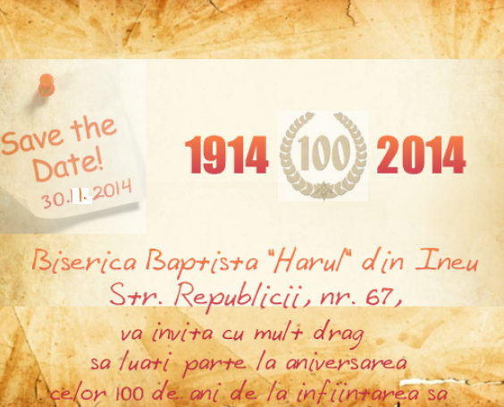 invitatie 100